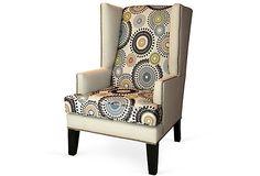 Nicholas Wing Chair, Cream on OneKingsLane.com