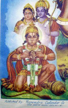 Hanuman was having an argument with someone that Sita and Ram were everywhere… Hanuman Stories, Ram Hanuman, Lord Rama Images, Sita Ram, Hanuman Images, Ganesha Art, Monkey King, Hindu Art, Indian Gods