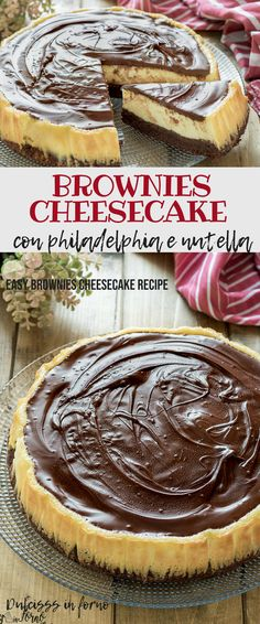 Brownies cheesecake easy recipe: the union of the brownie base with the cheese . - Food and drinks - Cheesecake Easy Brownie Cheesecake Recipe, Healthy Cheesecake, Nutella Cheesecake, Classic Cheesecake, Cheesecake Brownies, Cheesecake Bites, Brownie Recipes, Best Cheese, Cheese Food