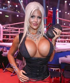latex huge fake tits