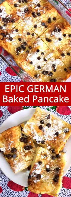 I love this giant German baked pancake! It's so much easier to make than regular pancakes and it tastes amazing!
