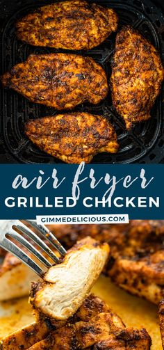 Air Fryer Recipes Chicken Breast, Chicken Thigh Recipes Oven, Air Fryer Oven Recipes, Air Frier Recipes, Air Fryer Dinner Recipes, Oven Chicken, Baked Chicken Recipes, Air Fry Chicken, Grilled Chicken Breast Recipes