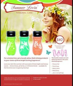 Summer Lovin' Personal Care includes shower gel, hand soap, body lotion, body spray in a cute gift bag. Available in these scents Serene Green, jet Set Go! or A Wink and a Smile #bathandbody #scentsy https://christinah.scentsy.ca/