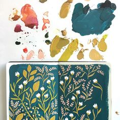 This little sketchbook experiment led to the creation of Field Floral the newest floral pattern added to our Goldenrod collection _______________________________ Autumn Illustration, Portrait Illustration, Botanical Illustration, Sketchbook Inspiration, Art Sketchbook, Gouache Painting, Watercolor Paintings, Watercolor Journal, Watercolours