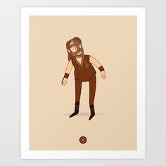 Mankind - Pro Wrestler Illustration Art Print