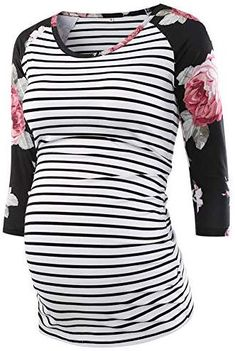 Women Mom Pregnancy Casual Solid Ruched Tunic Top Maternity Blouse Shirt Clothes