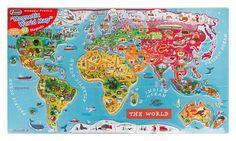 Μαγνητικός Παγκόσμιος Χάρτης Puzzle