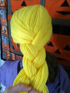 Rebecca's Round Up: Happy Halloween! {how to make a Rapunzel yarn wig}