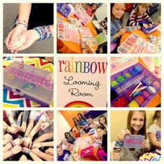 NatalieKMudd: Rainbow Loom Birthday Party