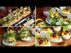 Egg baskets and stuffet eggs - spring delicacies Crepes, Egg Basket, Tapas, Egg Salad, Deviled Eggs, Egg Recipes, Afternoon Tea, Finger Foods, Food Styling
