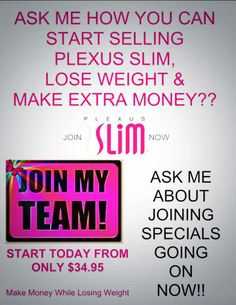 Join my team today.. take the Plexus journey. not only will you feel healthier your pocket will get wealthier. . www.shopmyplexus.com/karenvaughn the 1st 3 people who join my team as a new ambassador i will reimburse all of your membership fee.  you can join for FREE!!