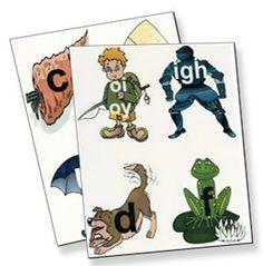 Right Brain Phonics Cards  #dyslexia #dyslexicchild #dysgraphia #ADHD