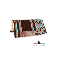 Who doesn't love brown and turquoise together?  Love this Classic Equine Sensorflex Wool Felt Pad 32x32 in Chocolate Turquoise with coral accents.