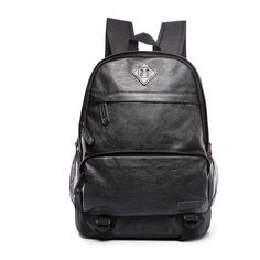New Fashion Style Women Men Genuine Leather Backpack Bag Brand Professional  Black Leather Men Travel School Backpack Bags d3d4397570bcc