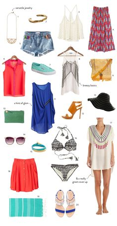 What to Pack for the Amalfi Coast. Read more - http://www.stylemepretty.com/living/2013/06/13/what-to-pack-for-the-amalfi-coast/