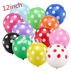 12inch 10pcs/lot Latex Polka Dot Balloon for Party Wedding Birthday Decoration #>=#>=#>=#>=#> Click on the pin to check out discount price, color, size, shipping, etc. Save and like it!
