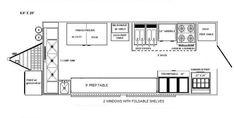 blueprints of a food truck | Floorplans