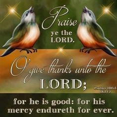 Psalm King James Version (KJV) 106 Praise ye the Lord. O give thanks unto the Lord; for he is good: for his mercy endureth for ever. Psalm 106, Psalms, Love The Lord, Gods Love, Book Of James, Biblia Online, King James Bible Verses, Shadow Of The Almighty, Christ The Redeemer