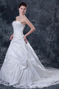 Abiti da Sposa Ball Gown Taffettà Organza Pizzo Sweetheart Lunghezza A Terra Chiesa