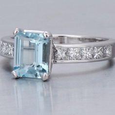 LOVE THIS  http://www.thediamondalternative.com/why-you-should-consider-an-aquamarine-engagement-ring/