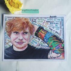 Ed Sheeran Art Art Projects, Photo And Video, Baseball Cards, Instagram, Art Designs, Art Crafts