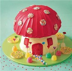 "Pixie Toadstool Cake- I need a ""do-over"" for a couple of elementary bday parites..."