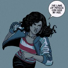 Miss America Chávez, from Young Avengers. Written by Kieron Gillen and illustrated by Mckelvie.