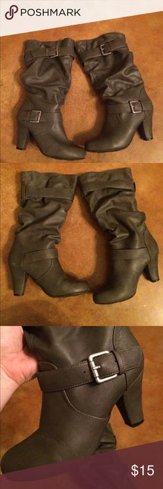 Gray boots Super cute gray boots -3 inch heel target Shoes Heeled Boots