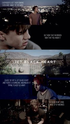 jet black heart lockscreen -