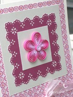 Pink Flower Card by lorraine