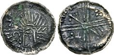 Hiberno-Norse. temp. Domnall mac Taidc Ua Briain – Brotar mac Torcaill. Early-mid 12th century. AR Penny (18mm, 0.40 g). Phase VI coinage. Uncertain mint and moneyer. Struck circa 1095/1100-1110. Crude draped bust left; crozier before head / Voided long cross, with annulet at center and cruciform scepters and pellets alternating in quarters. SCBI -; SCBC 6187. VF, find patina, some verdigris Vikings, 12th Century, Irish, Coins, Dating, Personalized Items, Scotland, Ireland, United Kingdom