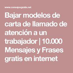 Bajar modelos de carta de llamado de atención a un trabajador | 10.000 Mensajes y Frases gratis en internet