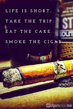 Life is short. Smoke the cigar! Pairing it with the perfect beer makes it even better.