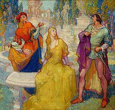 Rivals in Love, Soulen, Henry James, American illustrator, 1888-1965