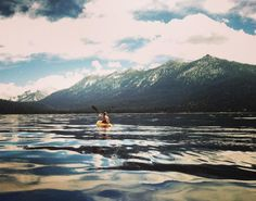 awelltraveledwoman:  On my 20th birthday I was living in Alaska. A good friend got the hook up with some kayak rentals and we spent the day paddling in and out of coves along the base of the mountains. At one point we came on two humpback whales just 10-15 feet from where we were paddling. One of the most beautiful and terrifying moments. Such a great memory.