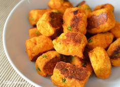 We love this tasty, bite-size #Fall #recipe! Sweet Potato, Lentil, and Cheddar Croquettes. Check it out!