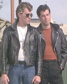 Grease: The heart of the T-Birds: Danny Zuko and Kenickie. Sandra Dee Grease, Grease John Travolta, Grease 1978, Grease 2, Grease Is The Word, Grease Hairstyles, Danny Zuko, Best Pal, About Time Movie