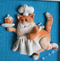 """Животные ручной работы. Ярмарка Мастеров - ручная работа панно  """"Кот-повар""""-1. Handmade."""