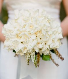 exquisite gardenia bouquet...must have smelled amazing...and cost more than the car I currently drive. :)