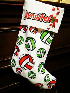 Custom- #Volleyball- Christmas-Stocking.jpg  #volleyball #sportquotes #volleyballquotes