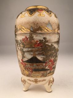 Lot: Japanese Satsuma vase., Lot Number: 0369, Starting Bid: $100, Auctioneer: Antique Place, Auction: Must See Auction 4 continues, Date: December 18th, 2016