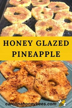 Enjoy the sweet taste of honey and the tangy delight of pineapple.  This Honey Glazed Pineapple Recipe is easy to make and quick on the grill.  #carolinahoneybees #honeyrecipes #grilledhoneypineapple Grilled Pineapple Recipe, Pineapple Recipes, Cooking With Honey, Cooking On The Grill, Honey And Cinnamon, Raw Honey, Eating Raw, Healthy Eating, Ripe Pineapple