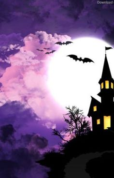 Halloween wallpapers are a great way to decorate their desktop backgrounds. you find just spooky, funny, kid-friendly, scary, or quirky Halloween wallpaper Spooky Halloween, Photo Halloween, Halloween Fotos, Halloween Backdrop, Halloween Canvas, Purple Halloween, Halloween Painting, Halloween Haunted Houses, Halloween Pictures
