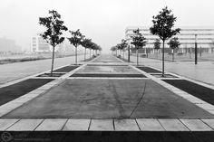 » Paseo desierto con marca de frenada bicicletera Hodari Fotoblog
