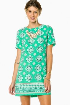 Faline Sheath Dress in Mint