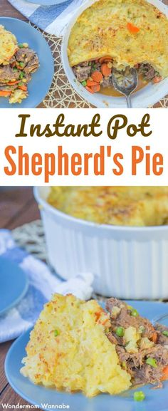 This Instant Pot Shepherd's Pie is a tasty upgrade from the traditional version. So yummy! #instantpot #pressurecooker via @wondermomwannab