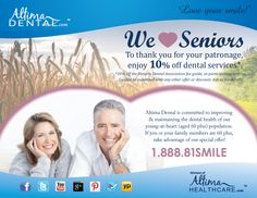We Heart Seniors! At Altima Dental, we are committed to improving and maintaining the dental health of our young-at-heart (aged 60 plus) population. This is why we are pleased to offer all seniors 10% off dentistry services at participating Altima Dental Centres. If you or your family members are 60 plus, take advantage of our special offer! Love your smile! #dental #health #seniors #AltimaDental #Ontario #NationalSeniorsDay