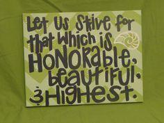 Kappa Delta Open Motto: Lime & Mint. $20.00, via Etsy.