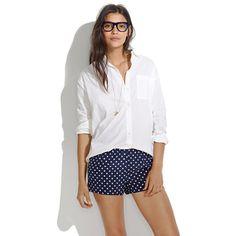 Silk Sleep Shorts in Domino Dot
