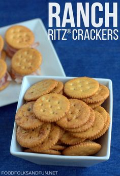 Ranch RITZ® Crackers - a quick and easy snack the whole family will love. Use it as a base to make a delicious cracker stacker! #PutItOnARitz #ad